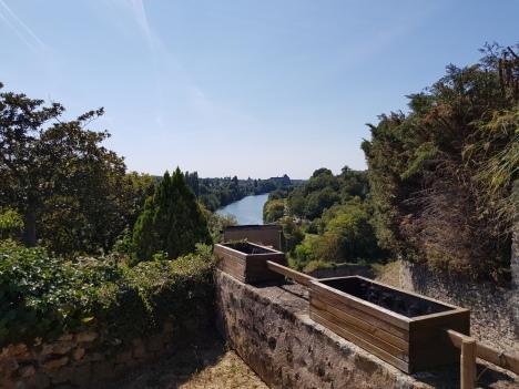Vue sur la Sarthe du bourg de Juigné